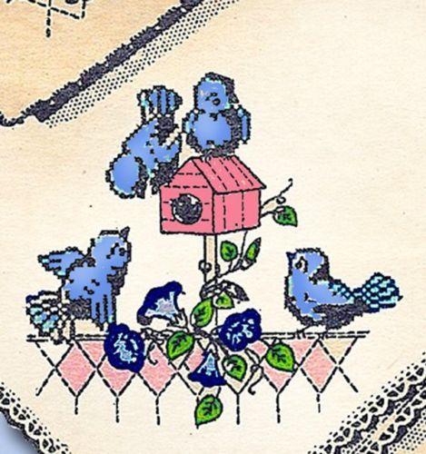 1950s Darlin Birds Birdhouse Motifs Uncut Design Mail Order Transfer | eBay