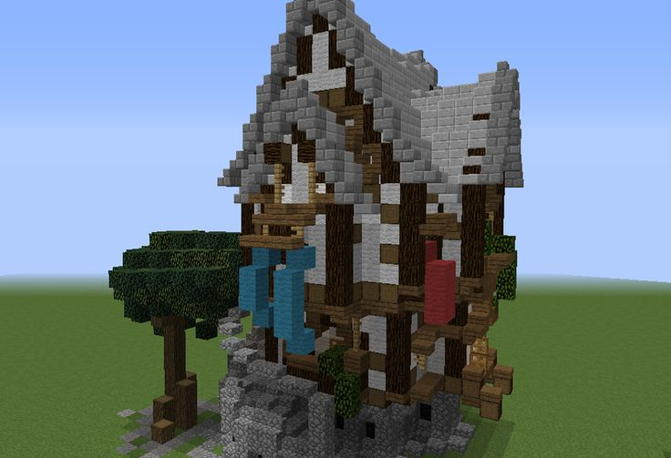 Semi-Organic Medieval House - GrabCraft - Your number one source for MineCraft buildings, blueprints, tips, ideas, floorplans!