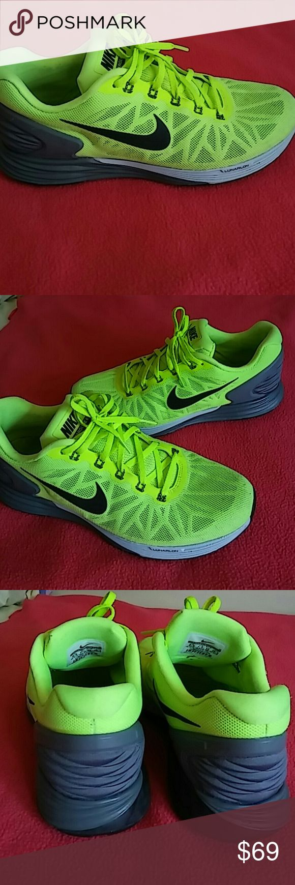 Nike Lunarglide 6..SIZE 8.5 MEN and 10 WOMEN. Beautiful and attractive are two words to describe this shoes. WOMEN of size 10 and 10.5 can use this as well as MEN size 8.5. Showing minimal signs of use especially insoles. Shoes is in terrific shape and rated 8.9/10..Stock # is 654433 700...This is valued in this present state for $79. Nike Shoes Sneakers