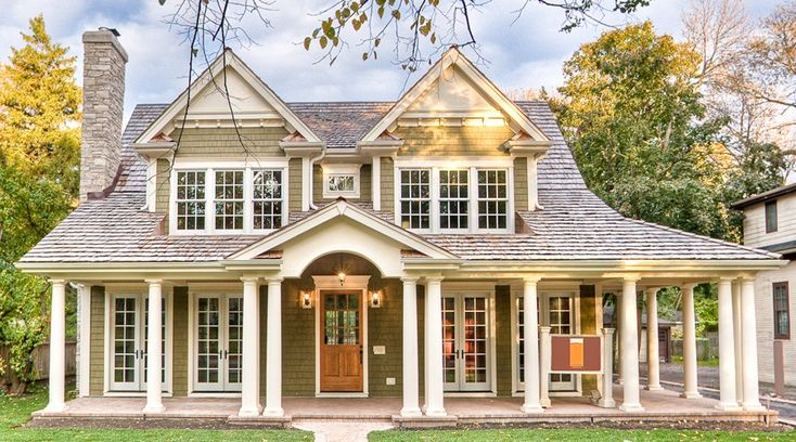 Cute home exterior love the wrap around porch house for Bungalow house plans with wrap around porch