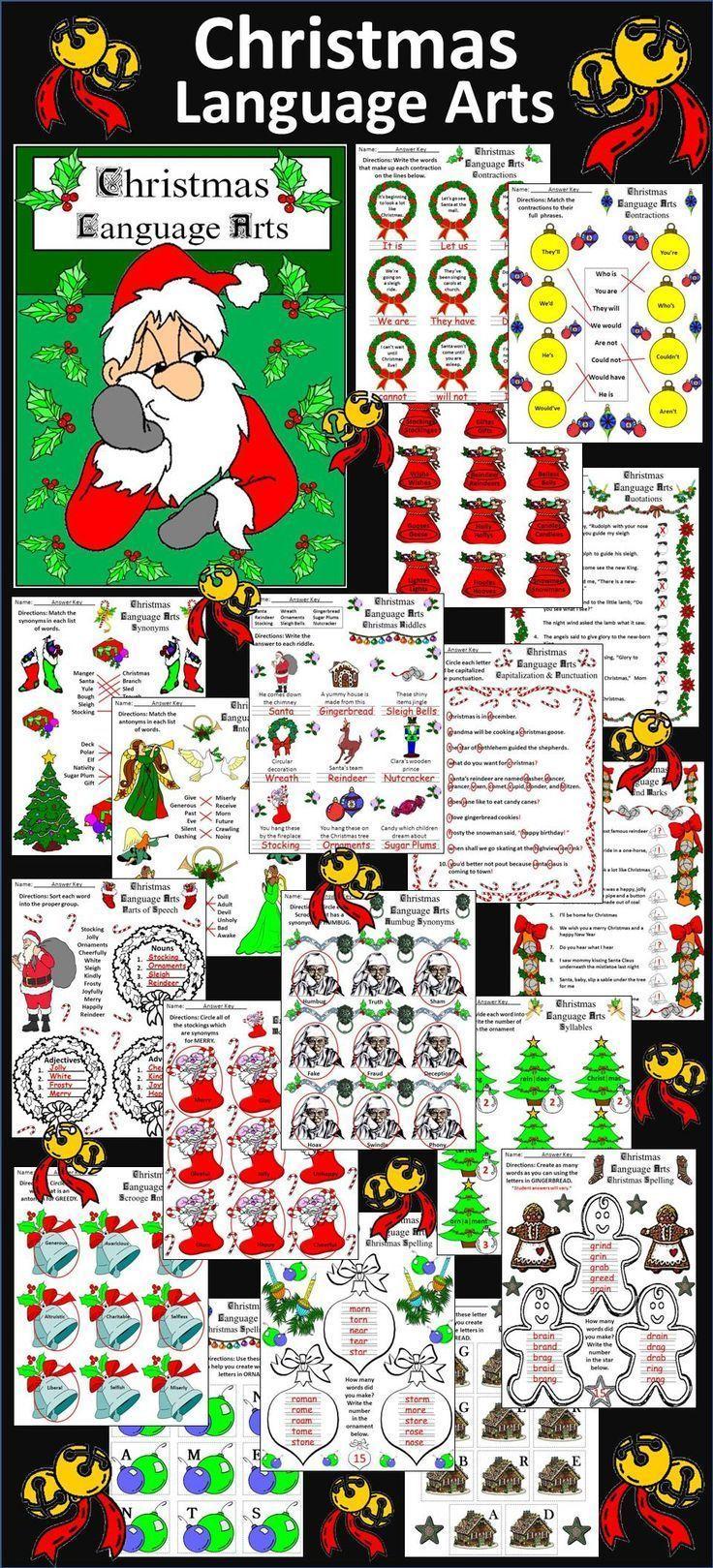 christmas activities christmas language arts activity packet christmas language arts and. Black Bedroom Furniture Sets. Home Design Ideas