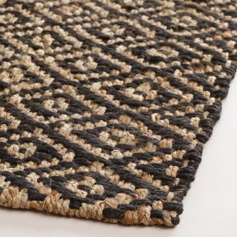 Black Diamond Chunky Weave Jute Aminah Area Rug