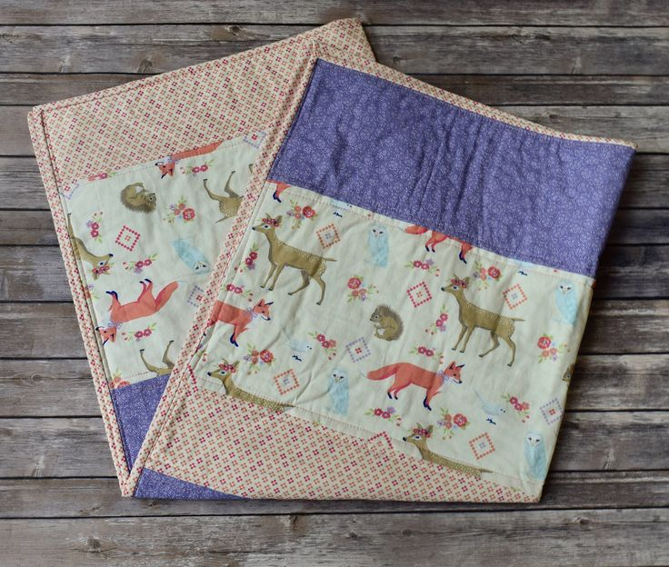 Baby Girl Woodlands Quilt, Girl Woodlands Bedding, Toddler Woodlands Quilt, Girl Coral Quilt, Baby Girl Deer Quilt, Girl Southwestern Quilt by KenziesQuiltShop on Etsy https://www.etsy.com/listing/523269911/baby-girl-woodlands-quilt-girl-woodlands