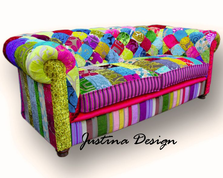 Patchwork Chesterfield Sofa Hand Made In England 1 499 00 Via Etsy