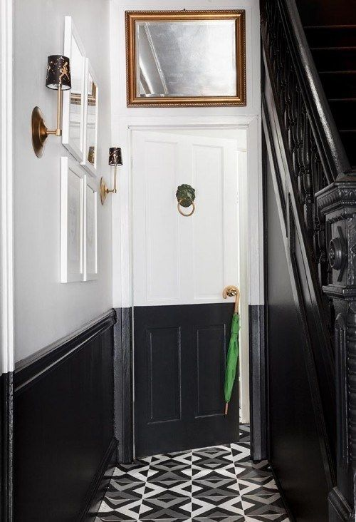 Paint only the bottom half of the entryway. | 33 Incredibly Easy Tricks To Vastly Improve Your Entryway