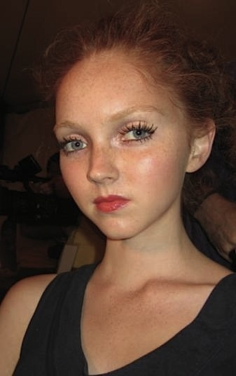 """Lily Cole /* but will do """"dewy vulnerable'... */"""
