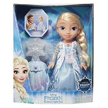 Disney - La Reine des Neiges - Elsa Nothern Light - Poupée Parlant Anglais + Flocon Magique: Amazon.fr: Jeux et Jouets