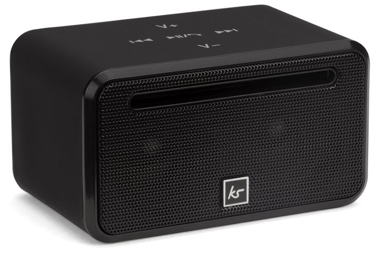 KitSound Ignite Mini Universal Portable Wireless Bluetooth Speaker Compatible with Smartphones and Tablets - Black. Stereo sound. Passive radiator bass boost. Wired or wireless connectivity. Plays MP3 from micro SD. Hands-free function and track controls.