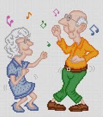 Resultado de imagem para esquemas de casal avós em ponto de cruz pinterest