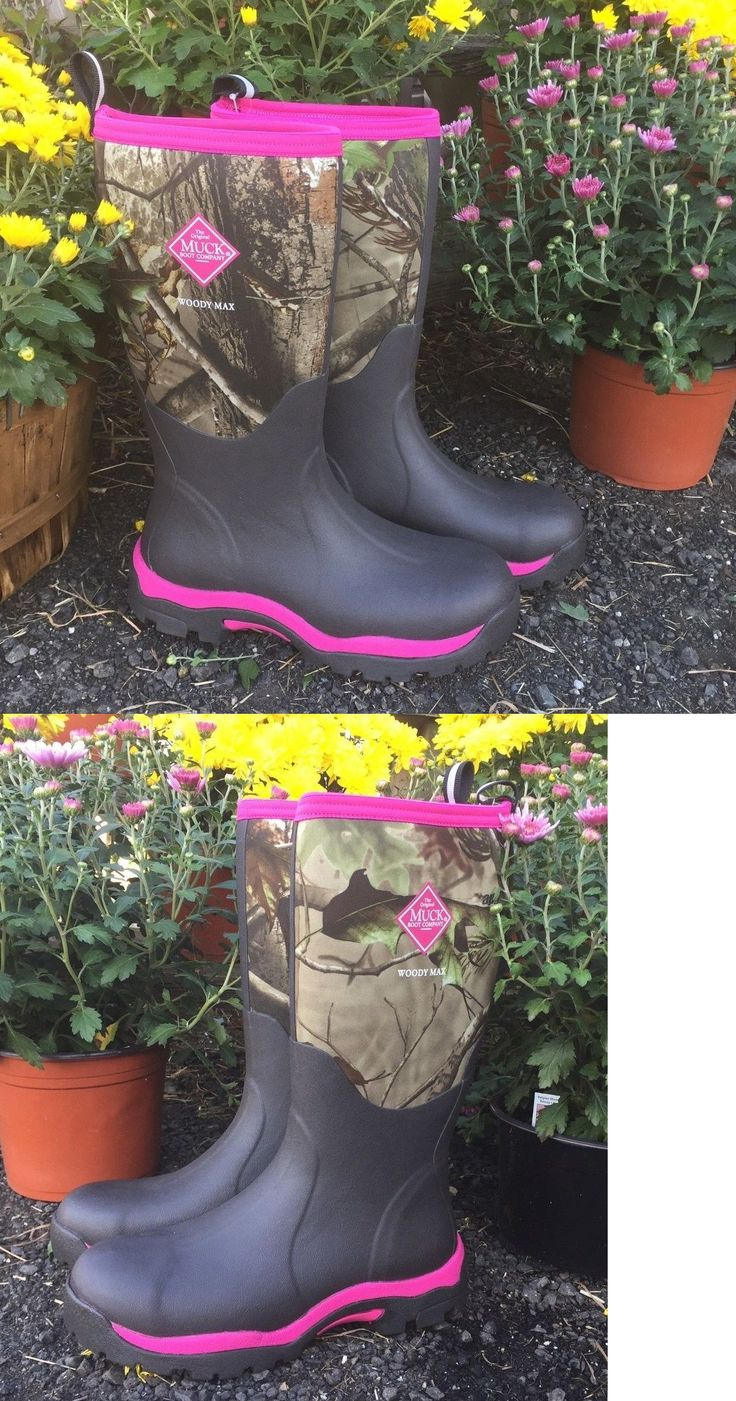 Hunting Footwear 153008: The Original Muck Boot Company Womans Wood Pk Hunting Boot Pink Camo BUY IT NOW ONLY: $115.0