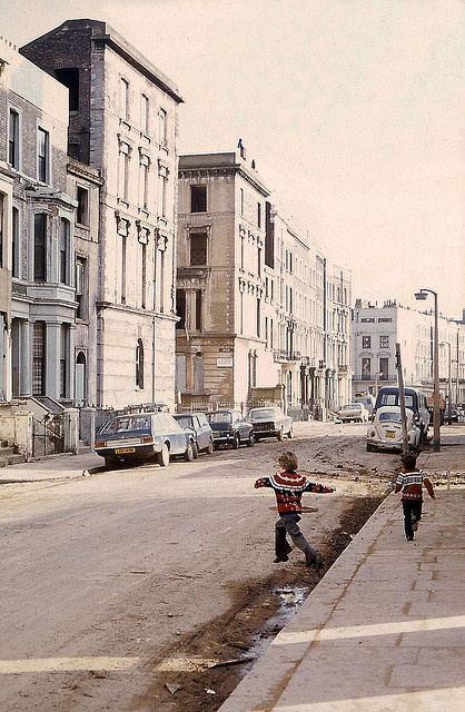 Westbourne Park, Feb 1974: Moorhouse Rd, now demolished, looking S by JB photographer, via Flickr