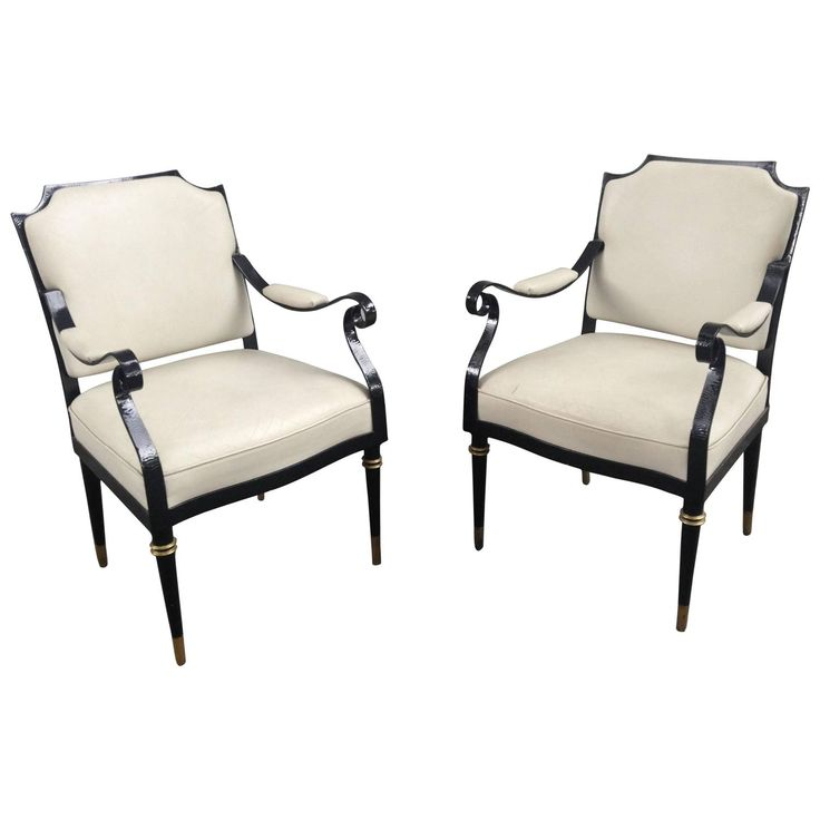 Pair of Arturo Pani Armchairs   From a unique collection of antique and modern armchairs at https://www.1stdibs.com/furniture/seating/armchairs/