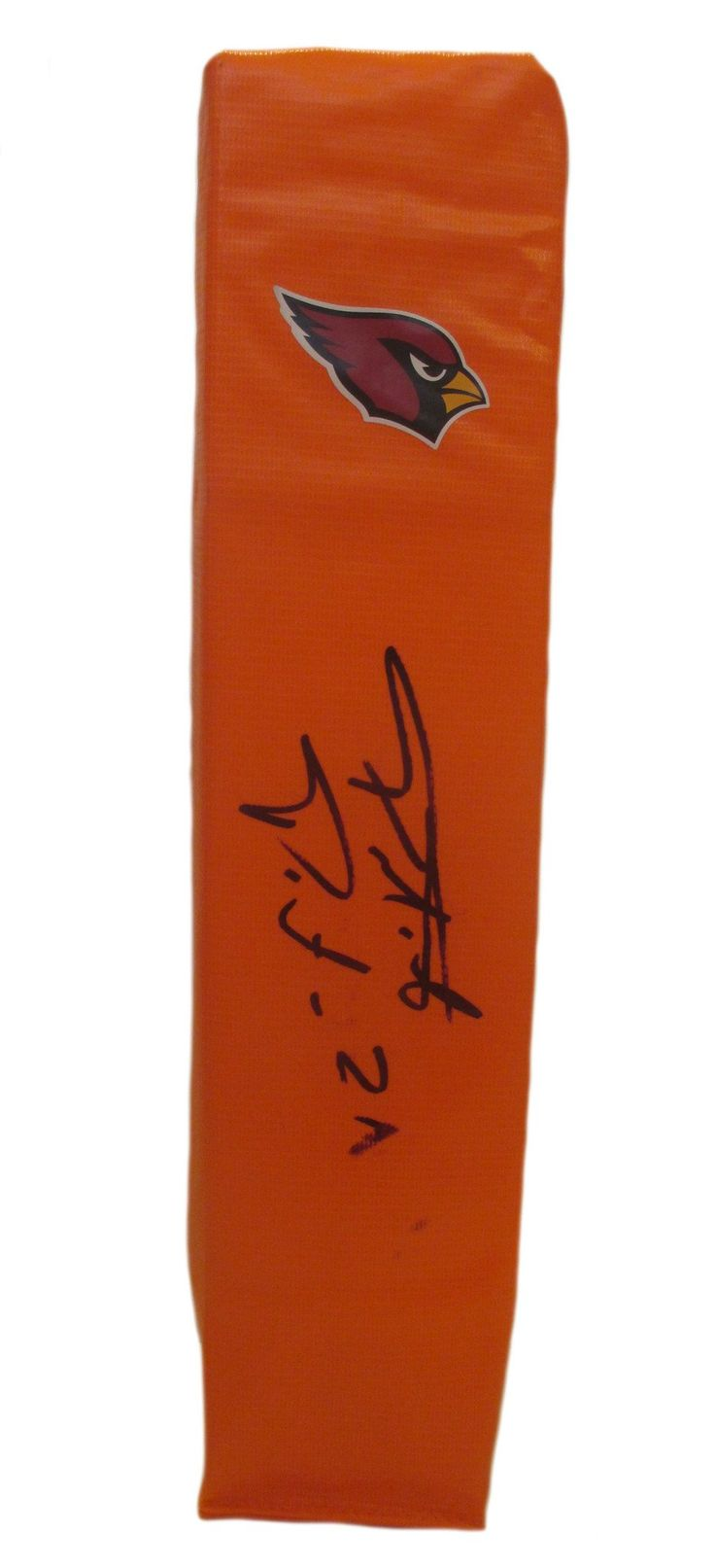 Patrick Peterson Autographed Arizona Cardinals Full Size Football End Zone Touchdown. This is a brand-new custom Patrick Peterson signed Arizona Cardinals logo full size football end zone pylon.  This pylon features Patrick Peterson's rare full signature. This pylon measures 4 inches (Width)  X 4 inches (Length) X 18 inches (Height).  Patrick signed the pylon in black sharpie. Check out the photo of Patrick signing for us. ** Proof photo is included for free with purchase. Please click on…