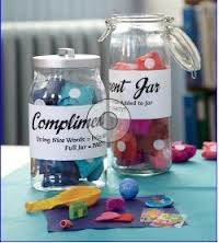 Turn an ordinary jar into a great incentive for students to be good classroom citizens. Not familiar with the compliment jar concept? Here's the idea: Whenever a child says or does something nice, place a token in the jar. To up the acts of kindness, use tissue paper–wrapped prizes as tokens. Once students have accumulated a given number—and gotten in plenty of counting practice—reward them with a class party.