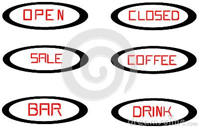 Various red lines drawn vector subtitles elliptical background. It includes diagonal lines.