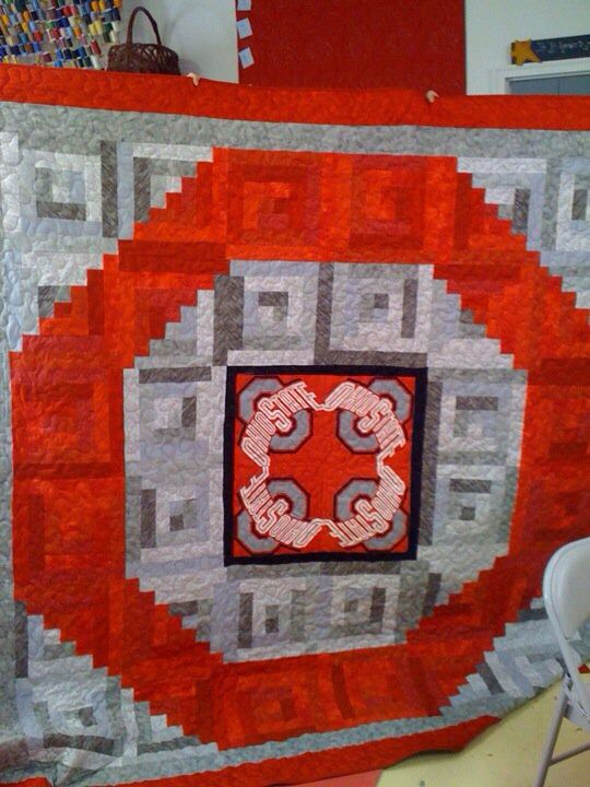 17 Best Images About Osu Quilts On Pinterest Sports Quilts Baby Rag Quilts And Ohio State Buckeyes