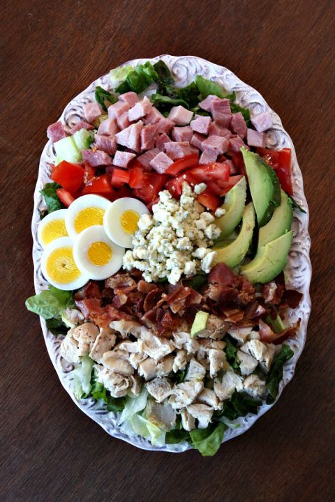 Classic Cobb Salad for lunch. Grandma would order this and shrimp cocktail everywhere we went in Laguna.
