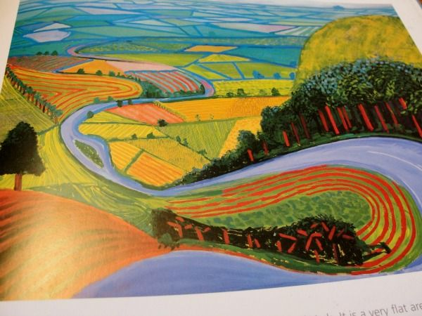 David Hockney landscape - great to use as an artist model, exactly what i might do.