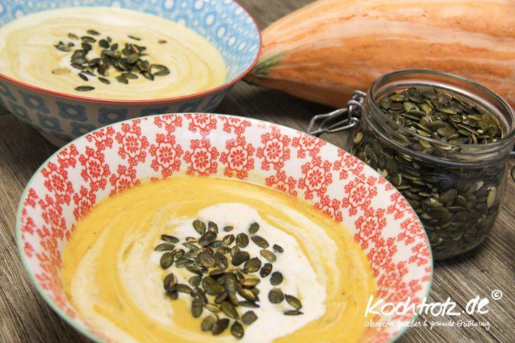 Sellerie-Kürbissuppe leicht scharf