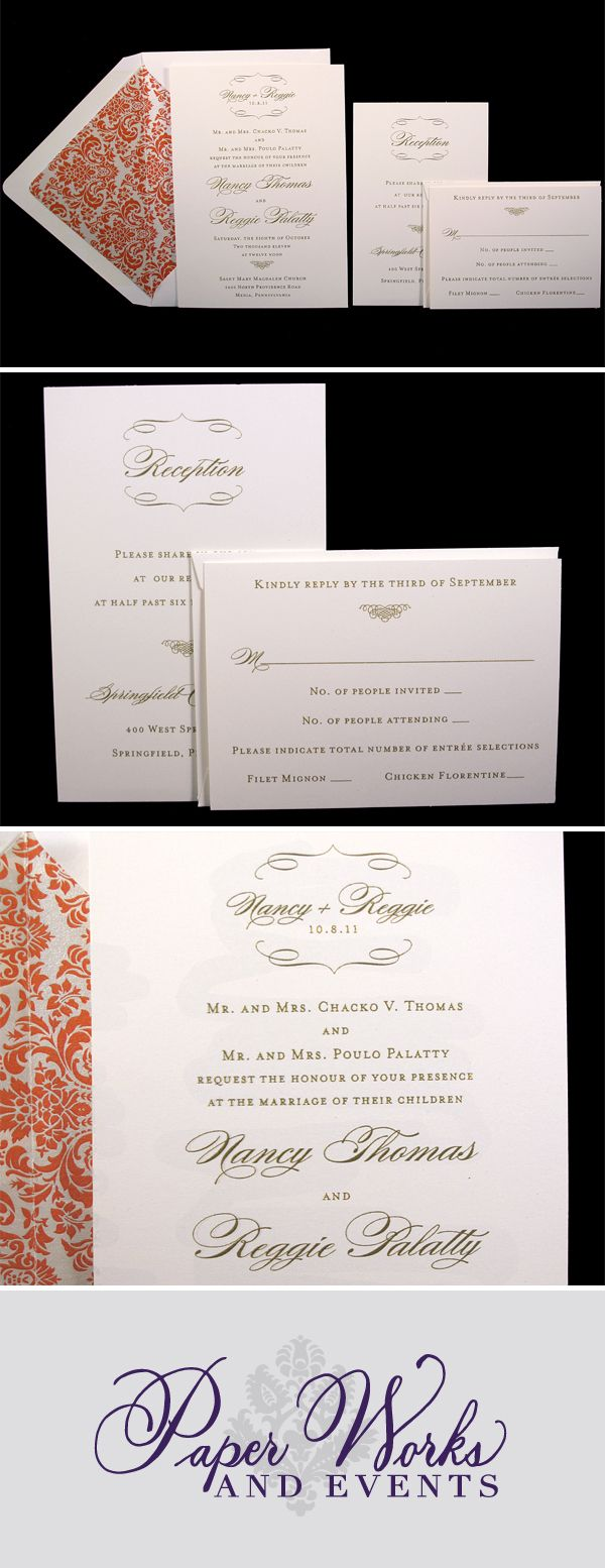 They Wanted To Keep Everything Pretty Traditional For Their Clic Wedding Invitations Using Cream Cardstock With