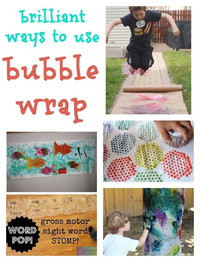 Brilliant Bubble Wrap Crafts Kids 39 Art And Kids 39 Games