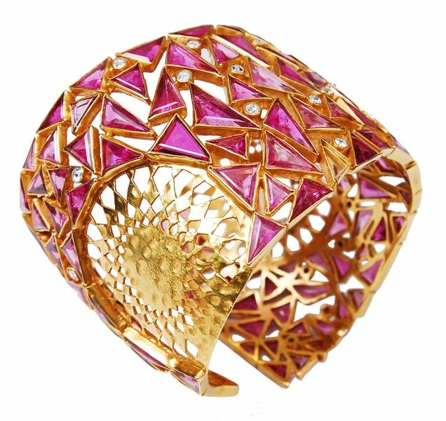 Ruby Cuff by the House of Amrapali Jewellery..