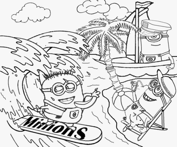 Beach Holiday Minion Coloring Pages Who Doesn T Know Minions