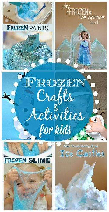 Frozen Crafts and Activities for Kids - Find Elsa, Anna, Olaf, the Trolls and more!