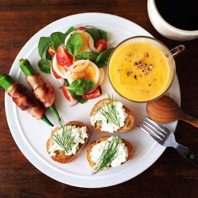 Edamame Cream cheese Dip, Carrot soup. 人参のポタージュ、枝豆とクリームチーズのディップ。 色々重なってバタバタな週だけど、あと2日働けば夏休み!がんばろー