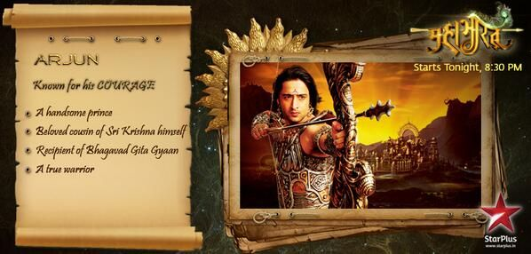 #Mahabharat is the story of Arjun's courage. Meet the brave warrior, starting tonight at 8:30PM.