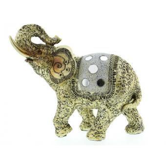 Adorno De Mesa Elefante De Poliresina Decore - 31220