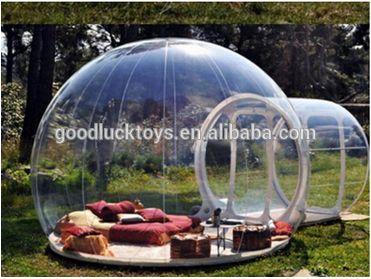 Pvc inflable de la burbuja Yard tienda de campaña tienda de campaña transparente / Hot gran carpa inflable, carpa de césped inflable