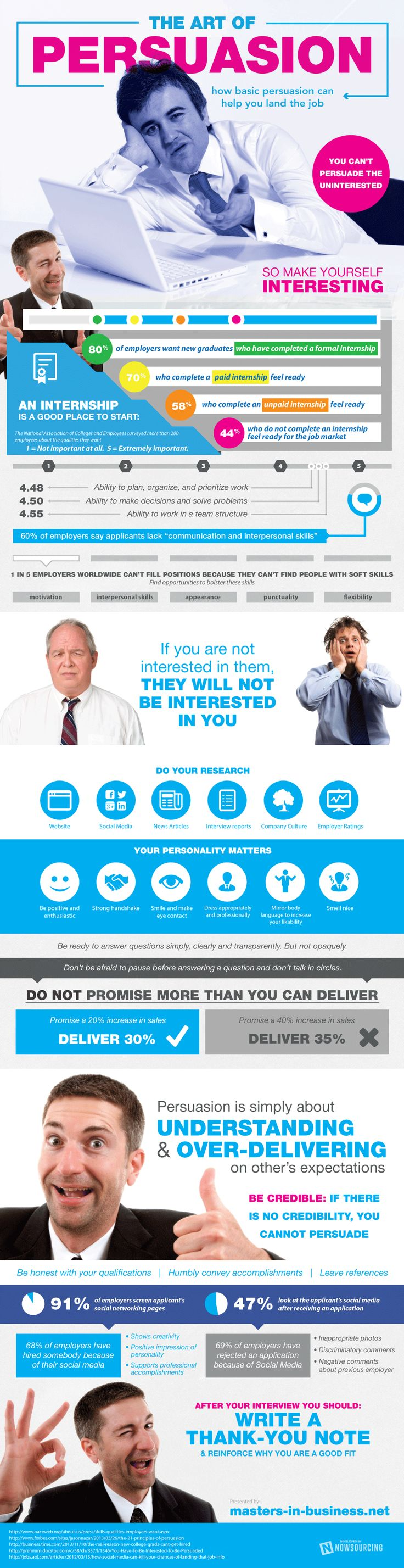 How Basic Persuasion Can Help You Land the Job #Infographic — Lightscap3s.com