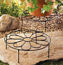 Round Flower Theme Iron Planter Stand  Plant Stand