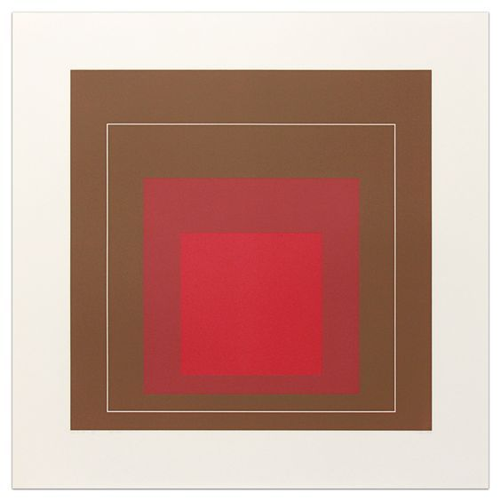 Josef Albers White Line Square IV, from White Line Square Series (Series I), 1966 Lithograph