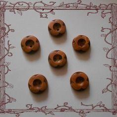 """Lot de boutons marron """" fleur en relief """" - 18mm"""