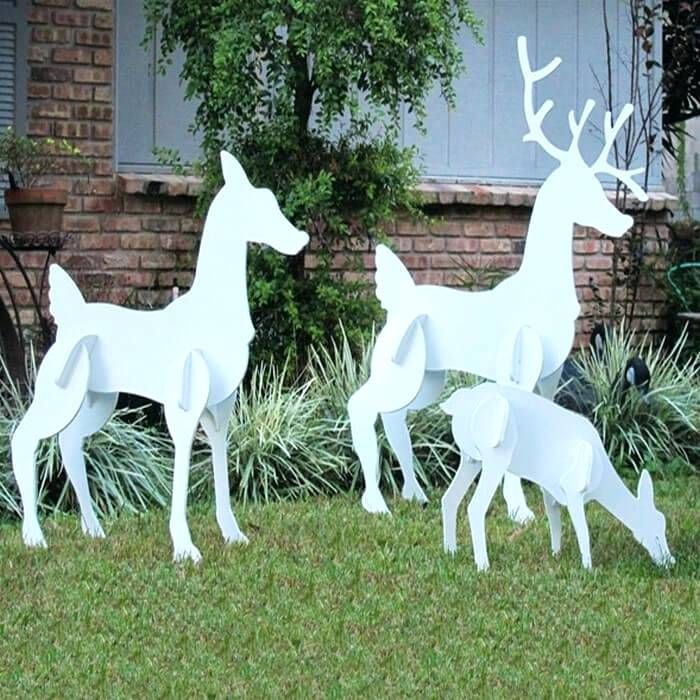 Image Result For Deer Lawn Statue Buy Christmas Yard Art Wooden Christmas Yard Decorations Christmas Yard Decorations