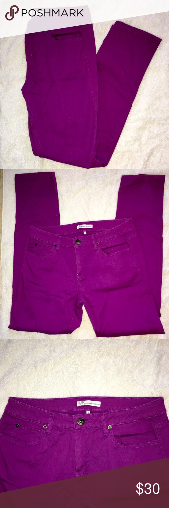 """French Connection UK Style Jeans French Connection UK Style jeans in """"electric purple"""". Straight leg. Size 8. Inseam 29 inches. 98% cotton, 2% spandex. French Connection Jeans"""