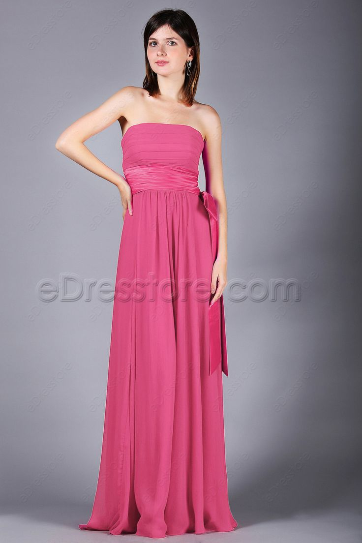 115 best bridesmaid dresses edresstore images on pinterest hot pink bridesmaid dresses with bow and ribbon ombrellifo Gallery