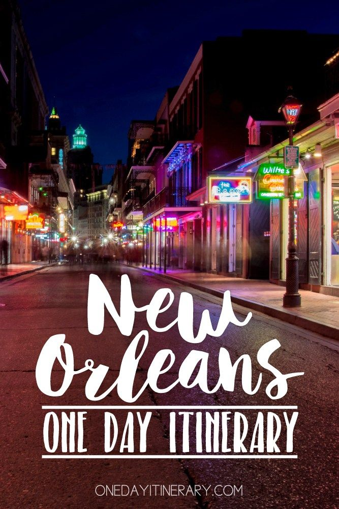 New Orleans, Louisiana - One day itinerary