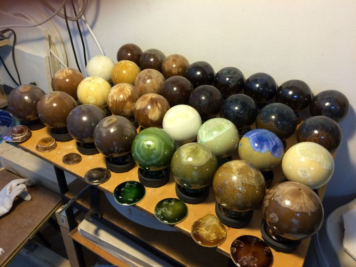 32 crystalline glaze test spheres