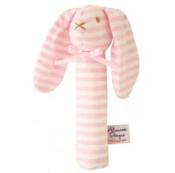 Alimrose Bunny Squeaker  - Pink/White
