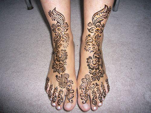 easy henna foot designs | Mehndi Designs