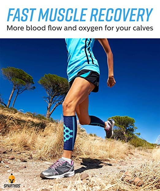 b8bffbf730 Amazon.com: Calf Compression Sleeves by SPARTHOS (Pair) – Leg Compression  Socks