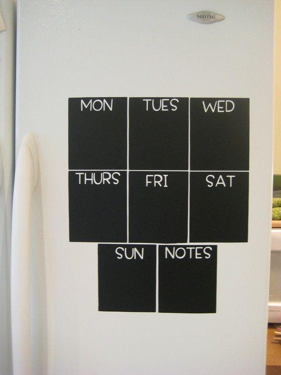 Mini Chalkboard Calendar by BradensGrace on Etsy, $16.00