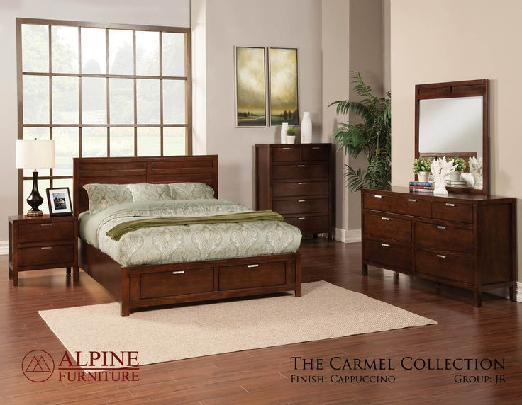 Wonderful Carmel Queen Bedroom Set In Cappuccino