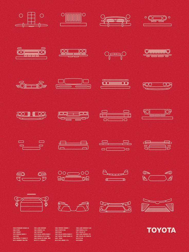 Auto Icon Screen Print Series: Toyota – NOMO Design