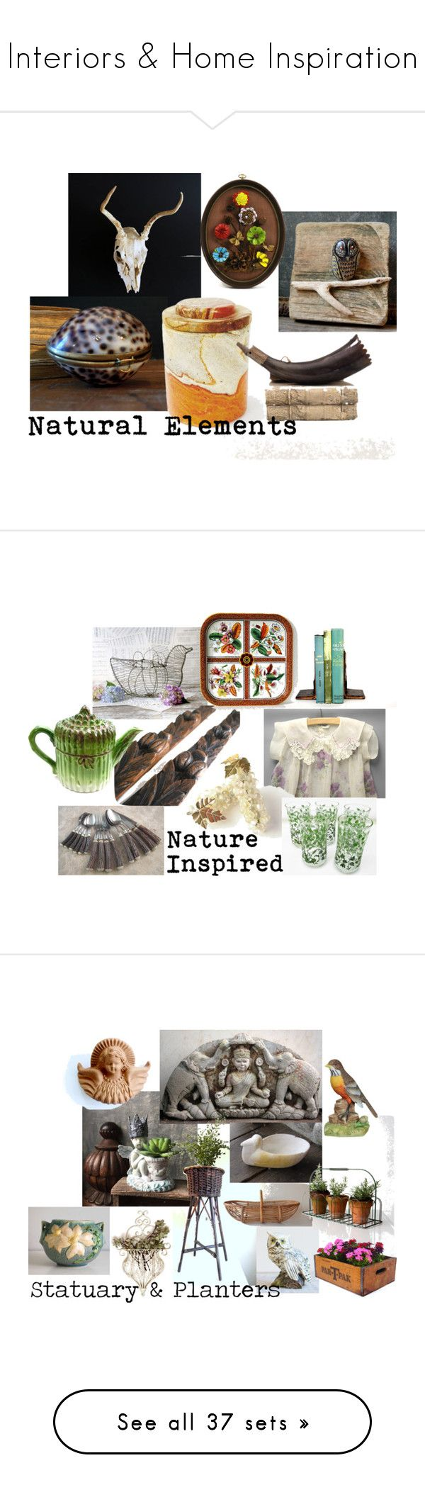 Interiors & Home Inspiration by gazaboovintage on Polyvore featuring polyvore interior interiors interior design home home decor interior decorating vintage VintageAndMain easter home decor bird home decor wire home decor nature figurine vintage porcelain vintage home accessories vintage sculpture bird sculptures porcelain bird figurines vintage porcelain figurines candles & candleholders handmade home decor wall candleholders wall mounted candle holders wall candle holders angel wing candle…