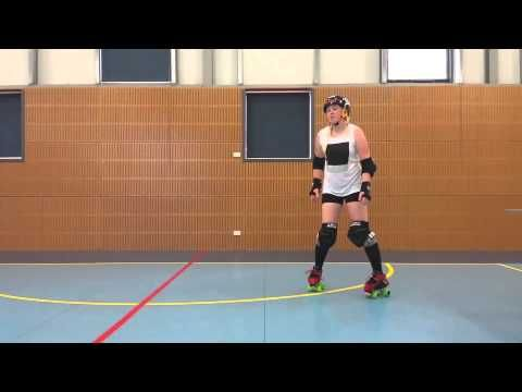 Roller Derby Fresh Meat Lessons - Plow stops - Lesson 5 - By PipSquish - YouTube