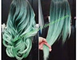 Image result for Mint Burgundy Ombre Hair